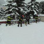 Sneh na streche rodinného domu